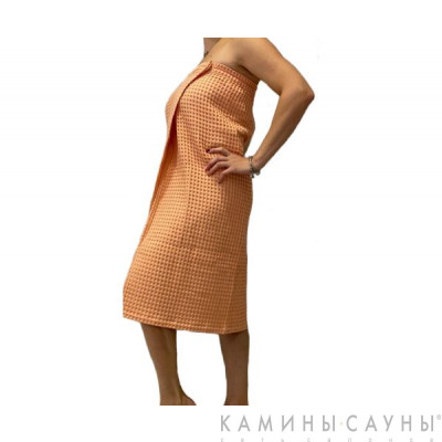 Килт для сауны женский (цвет лосось)