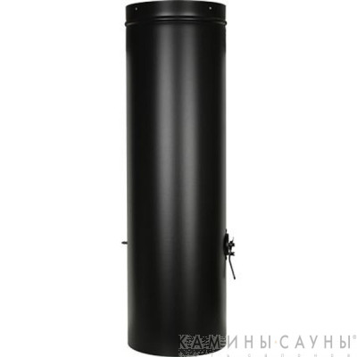 Дымовая труба 1х1м с заслонкой к барбекю Tundra Grill (черная) (Muurikka, Финляндия)