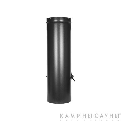 Дымовая труба 1х1м с заслонкой к барбекю Tundra Grill (античное серебро) (Muurikka, Финляндия)