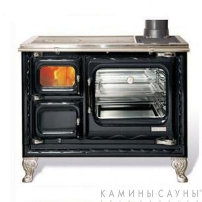 Кухонная дровяная печь DEVA II 100 (черная) с чугунной варочной поверхностью (Hergom, Испания)