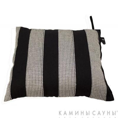 Подушка для сауны квадратная 26х30см, черная полоска, Финляндия