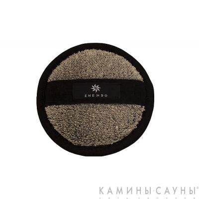 Мочалка махровая круглая, черная серия, Финляндия