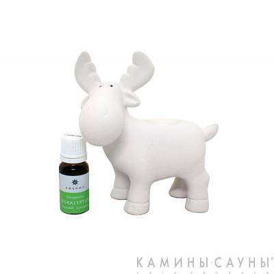 Подставка Олень с ароматом Эвкалипт 10мл белый, Финляндия
