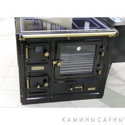 Кухонная дровяная печь Saja 8 с витрокерамической варочной поверхностью (Hergom, Испания)