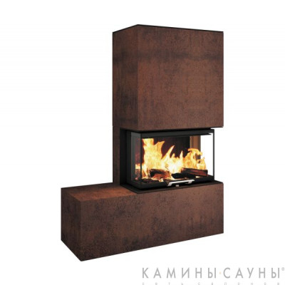 Готовый камин ARCHI Ceram Tri Vision 503,Iron Corten (Франция, RICHARD LE DROFF)