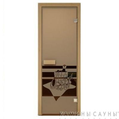 "Дверь для сауны ""Банный вечер"" 70х190мм"