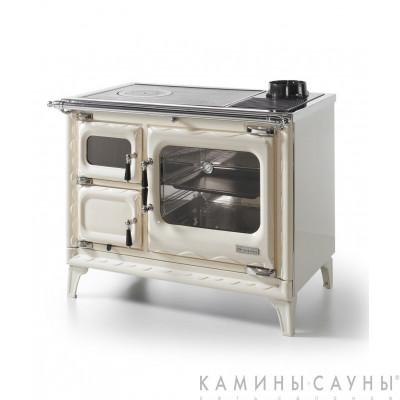 Кухонная дровяная печь DEVA II 100 (бежевая) с витрокерамической варочной поверхностью (Hergom, Испания)