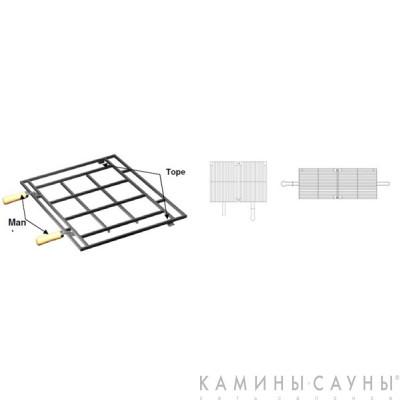 Двойная решетка-гриль к каминной топке Asador H04/100