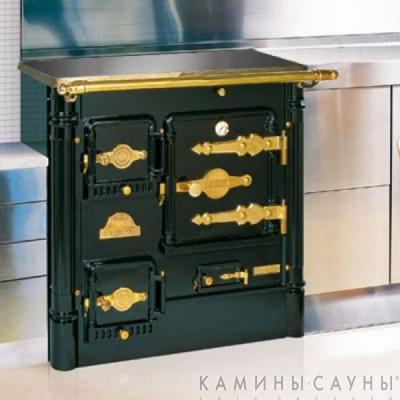 Кухонная дровяная печь L07 CH с витрокерамической варочной поверхностью (латунная фурнитура) (Hergom, Испания)