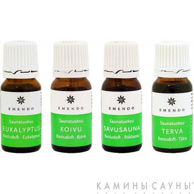 Ароматы для сауны 4х10мл (эвкалипт, береза, аромат сауны, деготь) Финляндия