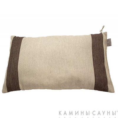 Подушка для сауны длинная, коричн. полоска, Финляндия