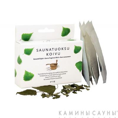 Запарка из березовых листьев (4 пак.х 3г сушеных финских березовых листьев), Финляндия