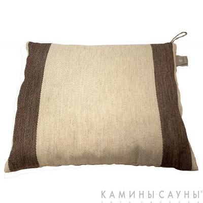 Подушка для сауны 26х30см, коричн. полоска, Финляндия
