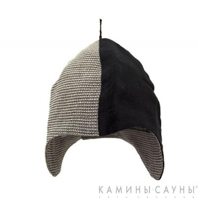 Льняная шапка для сауны, черная серия, Финляндия