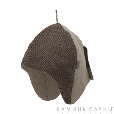 Льняная шапка для сауны, коричн. серия, Финляндия