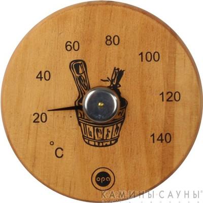 Термометр круглый (темная ольха)
