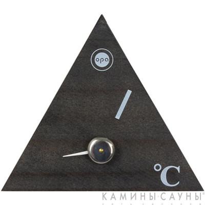 Термометр для сауны треугольник (сосна - темный цвет)
