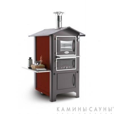 Печь с духовкой Andree 80 (красная) (Palazzetti, Италия)