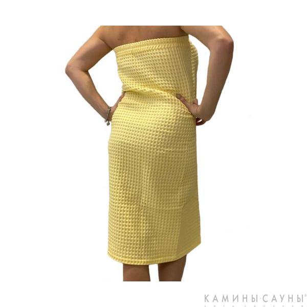 Килт для сауны женский (цвет желтый)