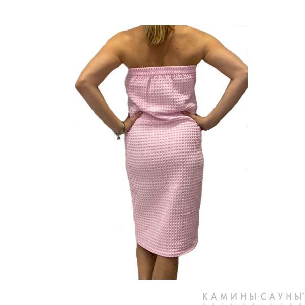Килт для сауны женский (цвет нежно розовый)