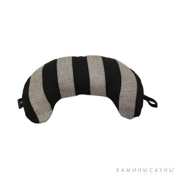 Подушка для сауны полукруглая, черная полоска, Финляндия